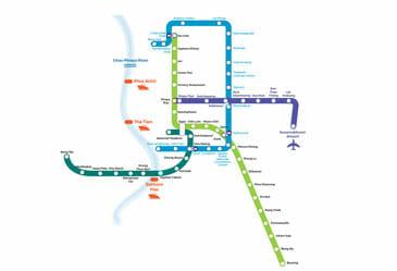Train Map of Bangkok